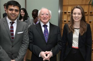President of Ireland Micheal D. Higgins at launch of the European Database of Asylum Law